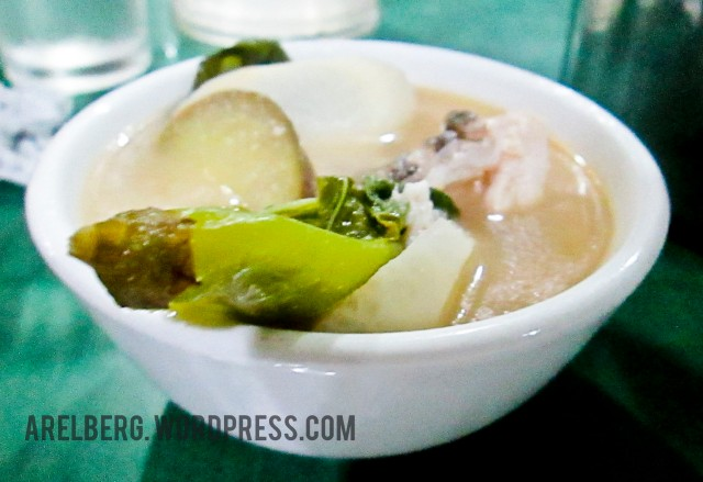 Sinigang sa Miso sa Lapu-lapu served in a bowl