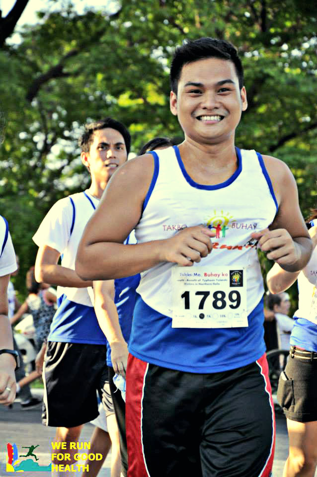 That's me! While running!