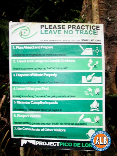Please take time to read this. Be a responsible hiker.